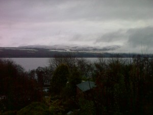 Cold day on Loch Ness