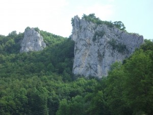 The white cliffs of the Danube